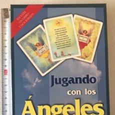 Barajas de cartas: BARAJA DEL TAROT JUGANDO CON LOS ÁNGELES CONTIENE LIBRO EXPLICATIVO. Lote 207926407