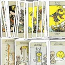 Barajas de cartas: BARAJA DE TAROT RIDER WAITE 80 CARTAS COMPLETA PERFECTO ESTADO. Lote 207938136