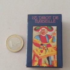 Barajas de cartas: BARAJA TAROT DE MARSELLA MINI. IMPECABLE, SIN ESTRENAR. 3,8 X 6 CM.. Lote 234468975