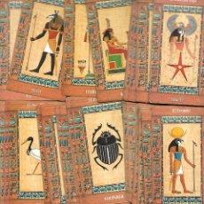 Baralhos de cartas: RARA BARAJA TAROT EGIPCIO COMPLETO 80 CARTAS ESTADO PERFECTOGUARDADO EN UNA CAJA DISTINTA. Lote 208366037