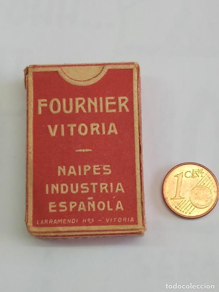 Barajas de cartas: BARAJA ANTIGUAS DE MINIATURA LILIPUT DE HERACLIO FOURNIER, COMPLETA COLOR ROJO - Foto 3 - 208761412