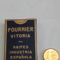 Mazzi di carte: BARAJA ANTIGUAS DE MINIATURA LILIPUT DE HERACLIO FOURNIER, COMPLETA COLOR AZUL. Lote 208761698