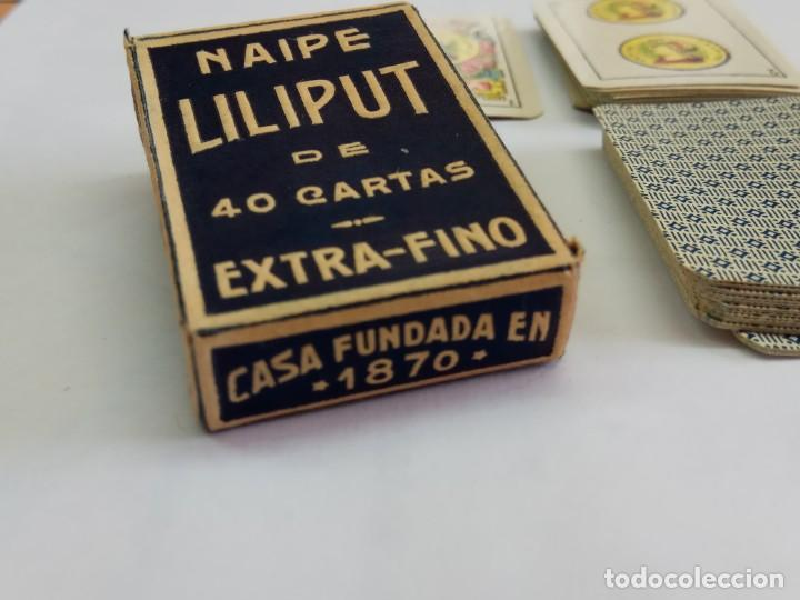 Barajas de cartas: BARAJA ANTIGUA DE MINIATURA LILIPUT DE HERACLIO FOURNIER, COMPLETA COLOR AZUL - Foto 3 - 241157835