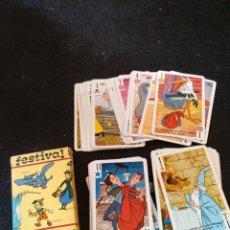 Jeux de cartes: BARAJA FESTIVAL WALT DISNEY, BARAJA INFANTIL. Lote 208825530
