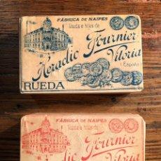 Baralhos de cartas: PACK DOS BARAJAS VIUDA E HIJOS DE HERACLIO FOURNIER. Lote 208828331