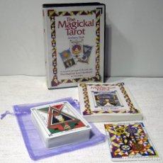 Barajas de cartas: THE MAGICKAL TAROT . ANTHONY CLARK. A COMPLETE PACKAGE OF 78 CARDS, PLUS THE MAGICKAL TAROT HANDBOOK. Lote 208863066
