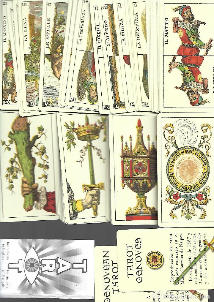 BARAJA DE TAROT GENOVES COMPLETA SIN ESTRENAR EN SU CAJA (Juguetes y Juegos - Cartas y Naipes - Barajas Tarot)