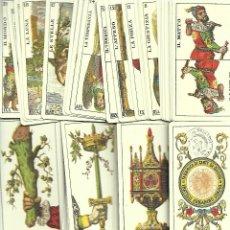 Barajas de cartas: BARAJA DE TAROT GENOVES COMPLETA SIN ESTRENAR EN SU CAJA. Lote 208941535