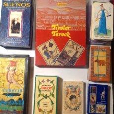 Barajas de cartas: COLECCIÓN DE 32 BARAJAS DE CARTAS TAROT, ORACULOS, CARTAS ADIVINATORIAS, JUEGOS DE CARTAS. Lote 209600772