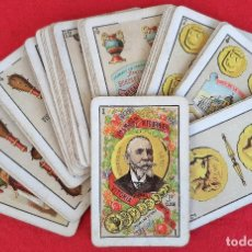 Barajas de cartas: ANTIGUA BARAJA ESPAÑOLA VDA. E HIJOS H. FOURNIER 1ª CLASE 40 NAIPES COMPLETA ORIGINAL H3. Lote 209652355