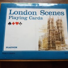 Barajas de cartas: PAR BARAJAS DE POKER NAIPES IMAGENES LONDRES ZXY. Lote 209665823