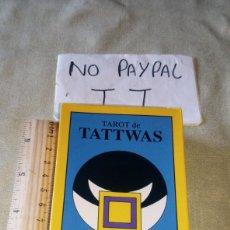 Baralhos de cartas: TAROT DE TATTWAS J. A PORTELA TRES DE COPAS TAROT FIGURAS GEOMÉTRICAS SAGRADAS NEGSA PRECINTADO. Lote 209864371