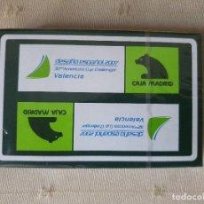 Barajas de cartas: BARAJA PUBLICITARIA CAJA MADRID-DESAFIO ESPAÑOL VALENCIA 2007 PRECINTADA. Lote 209991542