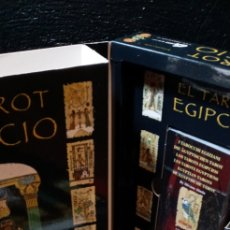 Barajas de cartas: TAROT EGIPCIO.MAGNIFICO ESTUCHE CON CARTAS+LIBRO.DESCATALOGADO.COLECCIONISTA.GAIA.. Lote 210168261