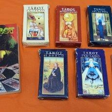Barajas de cartas: LOTE DE 5 BARAJAS DE TAROT EJIPCIO, EL BOSCO, INICIADO, SECRETOS... ORBIS FABBRI AÑOS 2000 + REGALO. Lote 210380160