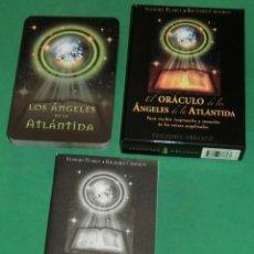 Baralhos de cartas: EL ORÁCULO DE LOS ÁNGELES DE LA ATLÁNTIDA (IMPECABLE: BARAJA+LIBRITO+CAJA)DE COLECCIONISTA. Lote 210393631