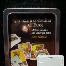 Barajas de cartas: APRENDA A CONSULTAR EL TAROT.ESTUCHE CON LIBRO+CARTAS. Lote 210547782