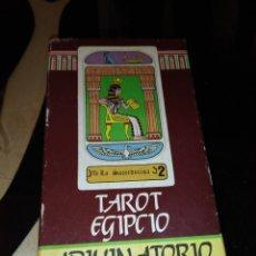 Barajas de cartas: BARAJA DE CARTAS TAROT EGIPCIO ADIVINATORIO NAIPES COMAS. Lote 210559213