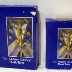 Barajas de cartas: 2 MAZOS TAROT ALEISTER CROWLEY THOT TAROT , VERSIONES 80 CARTAS, 2 TAMAÑOS. AGMULLER 1986. Lote 210685920