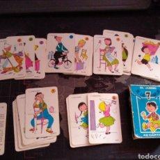 Barajas de cartas: EL JUEGO DE LAS 7 FAMILIAS AÑO 1963 COMPLETO CARTAS BARAJAS INFANTILES. Lote 210687230