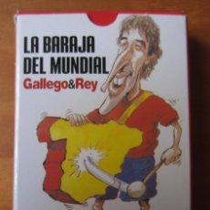 Barajas de cartas: BARAJA DE CARTAS LAS BARAJA DEL MUNDIAL (GALLEGO Y REY) (INTERVIU). Lote 210749852
