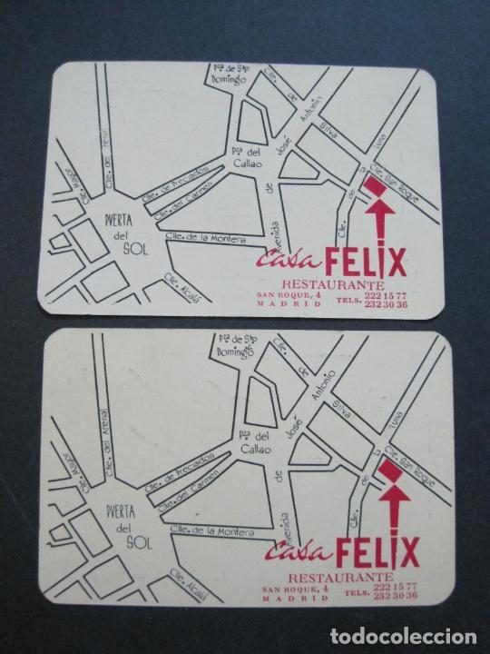 Barajas de cartas: CASA FELIX RESTAURANTE-MADRID-COL·COMPLETA DE 4 CARTAS NAIPES-VER FOTOS-(V-21.170) - Foto 7 - 210776101
