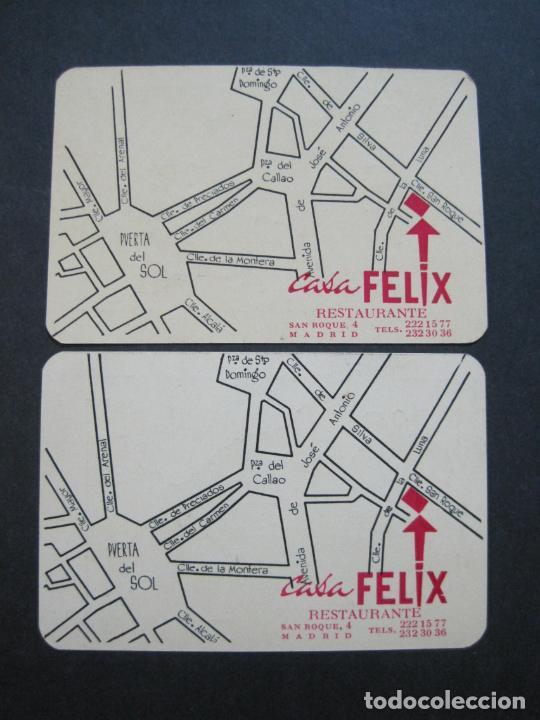 Barajas de cartas: CASA FELIX RESTAURANTE-MADRID-COL·COMPLETA DE 4 CARTAS NAIPES-VER FOTOS-(V-21.170) - Foto 8 - 210776101