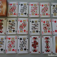 Barajas de cartas: BARAJA DE CARTAS DE PÓKER. MEDICINA MEDICAMENTOS PRAZOLENE. CURIOSOS NAIPES. 90GR. Lote 210838364