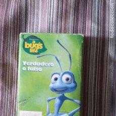Barajas de cartas: BARAJA DE CARTAS INFANTIL A BUGS LIFE VERDADERO O FALSO BICHOS FOURNIER. Lote 210845166