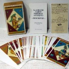 Barajas de cartas: GRAND TAROT IMPERIAL AZTEQUE 53 + 2 BLANCS AVEC LIBRET EXPLICATIF. J. F. SIMON 1986. Lote 211272686
