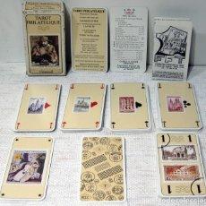 Barajas de cartas: TAROT PHILATELIQUE, BAPTISTE PAUL GRIMAUD. FRANCE CARTES 1990. Lote 211421605