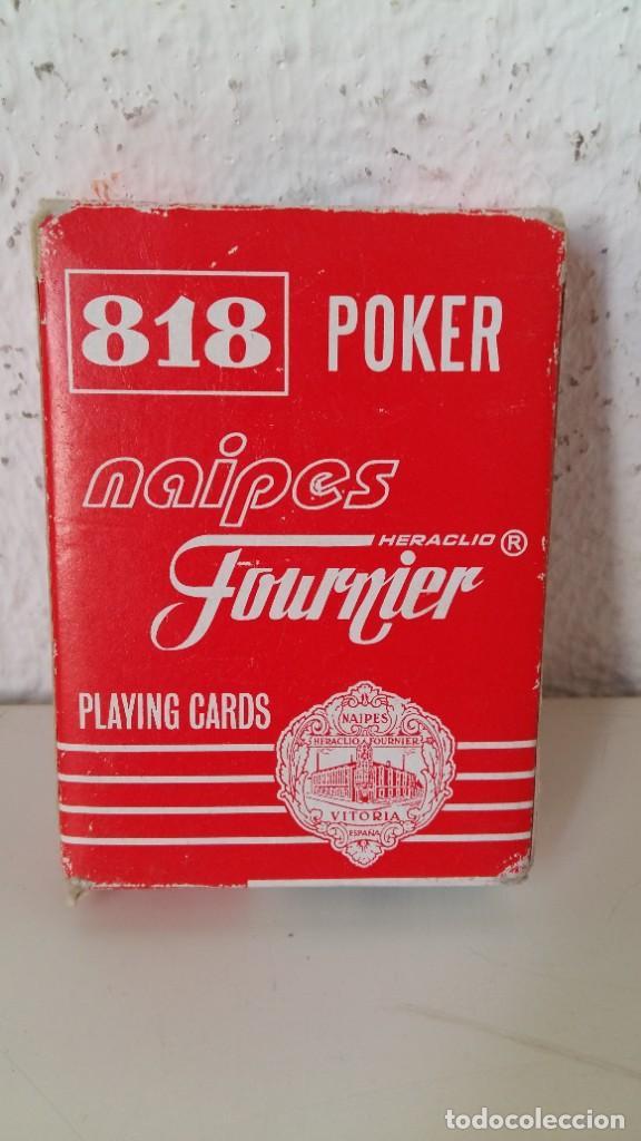 BARAJA DE HERACLIO FOURNIER NAIPES 818 POKER GIGANTE COMPLETA CON CAJA VER FOTOS (Juguetes y Juegos - Cartas y Naipes - Barajas de Póker)