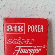 Barajas de cartas: BARAJA DE HERACLIO FOURNIER NAIPES 818 EDICIÓN ESPECIAL POKER GIGANTE COMPLETA CON CAJA VER FOTOS. Lote 211574842