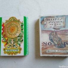 Barajas de cartas: LOTE DE 2 BARAJAS DE CARTAS. Lote 211775505