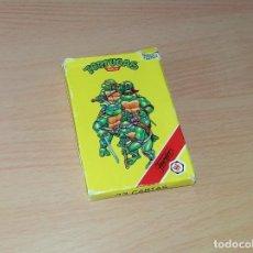 Barajas de cartas: BARAJA DE CARTAS LAS TORTUGAS NINJA 1991 HERACLIO FOURNIER S.A. (INCOMPLETA). Lote 211814736