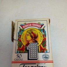 Barajas de cartas: ANTIGUA BARAJA ESPAÑOLA FOURNIER - Nº1 50 CARTAS - VITORIA 1962. Lote 211912536
