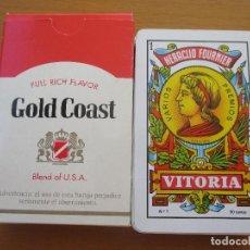 Barajas de cartas: BARAJA ESPAÑOLA HERACLIO FOURNIER VITORIA Nº1 50 CARTAS PUBLICIDAD GOLD COAST. Lote 212183951