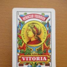 Barajas de cartas: BARAJA ESPAÑOLA HERACLIO FOURNIER VITORIA Nº1 1962 PUBLICIDAD PURA SANGRE JUMILLA. Lote 212189172