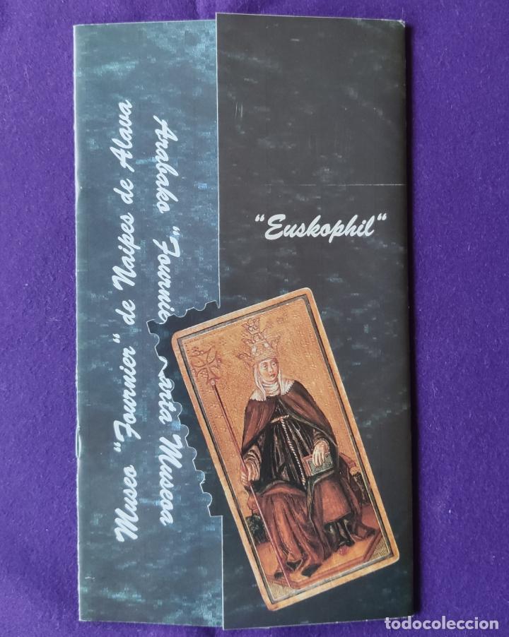 CATALOGO EXPOSICION MUSEO FOURNIER DE NAIPES DE ALAVA. ESKHOPHIL. 1994. BARAJA. CARTAS. (Juguetes y Juegos - Cartas y Naipes - Baraja Española)