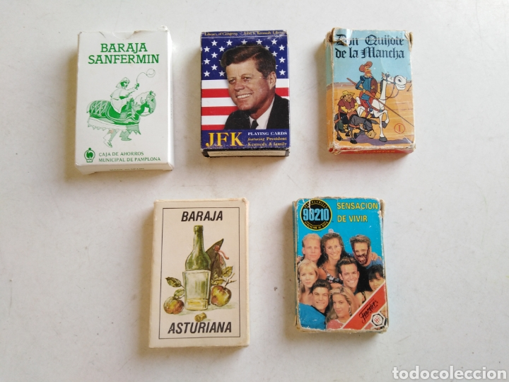 LOTE DE 5 BARAJAS DE CARTAS ( VARIADAS ) (Juguetes y Juegos - Cartas y Naipes - Otras Barajas)