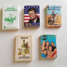 Barajas de cartas: LOTE DE 5 BARAJAS DE CARTAS ( VARIADAS ). Lote 212383963