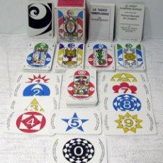 Barajas de cartas: LE TAROT NUMÉROLOGIQUE. 88 CARTAS. RICHARD BENNETT DE LAVIGERIE. FRANCE CARTES 1986. Lote 212791261