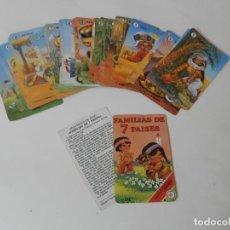 Baralhos de cartas: CARTAS,ANTIGUAS, CATETOS FAMILIAS DE 7 PAISES. Lote 212803293
