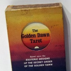 Barajas de cartas: THE GOLDEN DAWN TAROT, ROBERT WANG US GAMES 1978. Lote 212843822