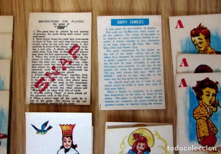 Barajas de cartas: BARAJA INFANTIL ANTIGUA HAPPY FAMILIES SNAP 42 CARTAS Y 2 INSTRUCCIONES MADE IN HONG KONG - Foto 2 - 212897686