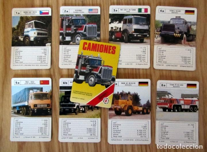 BARAJA INFANTIL - NAIPES - JUEGO DE 33 CARTAS - FOURNIER - CAMIONES - COMPLETA - 1989 (Juguetes y Juegos - Cartas y Naipes - Barajas Infantiles)