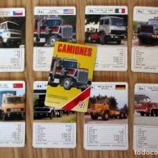 Barajas de cartas: BARAJA INFANTIL - NAIPES - JUEGO DE 33 CARTAS - FOURNIER - CAMIONES - COMPLETA - 1989. Lote 212899185