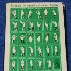 Barajas de cartas: ALFABETO INTERNACIONAL DE LOS SORDOS - FOURNIER ¡PRECINTADA!. Lote 212908711