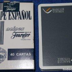 Barajas de cartas: BANCO VITORIA - FOURNIER ¡PRECINTADA!. Lote 212908752
