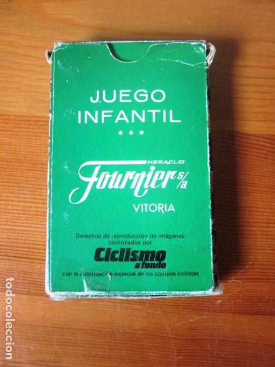 Barajas de cartas: Baraja Juego de Cartas naipes Fournier ASES DEL CICLISMO. FOURNIER. 1988. - Foto 3 - 213000787